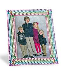 Melissa & Doug Press-On Rhinestones Frame Making Kit - Multicolour