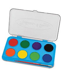 Melissa And Doug Jumbo Watercolour Paint Set - Multicolour