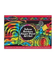 Melissa & Doug Deluxe Rainbow Finger Paint Art Set