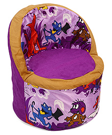 Luvely Kids Sofa Chair Animal Print - Purple