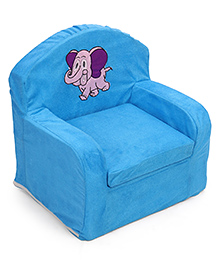 Luvely We Play Kids Sofa Chair Elephant Embroidery - Blue