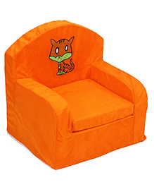 Luvely Sofa Chair Cat Embroidery - Orange