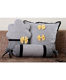 My Gift Booth Cupcake Cushion Cover Set Black - Set Of 3