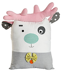 My Gift Booth Deer Shape Linen Cushion - Multicolour