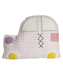 My Gift Booth Car Shape Cotton Cushion - Pink