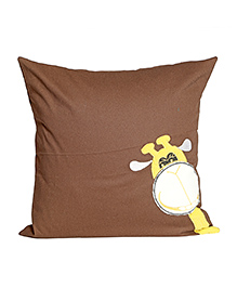 My Gift Booth Giraffe Cushion Cover - Brown