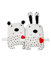 My Gift Booth Bear Cushion Set White - Pack Of 2