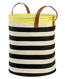 My Gift Booth Canvas Storage Bag Striped - Black