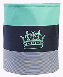 My Gift Booth Cotton Storage Bag Crown Embroidered - Green