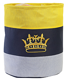 My Gift Booth Cotton Storage Bag Crown Embroidered - Yellow