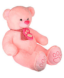 Dhoom Soft Toys Jumbo Teddy Bear With Muffler Pink - Height 80 Cm