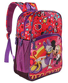 Disney Minnie Mouse School Bag Red - Height 13.7 Inches