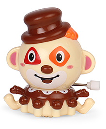 Playmate Wind Up Toy Clown Shape - Brown