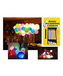 Party Propz Relighting Candles & Balloons Set Multicolour - 45 Pieces