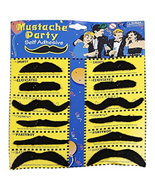 Party Propz Adhesive Moustache Black - Pack Of 12