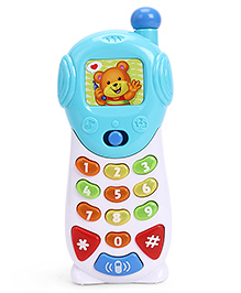 Winfun Light Up Musical Talking Phone With Light Effects - Blue