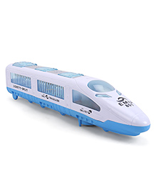 Playmate Bullet Train With Flashing Lights - Blue White