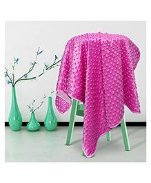 Kiddale Double Layer Fleece Baby Blanket - Pink