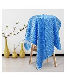 Kiddale Double Layer Fleece Baby Blanket - Blue