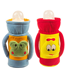 Ole Baby Feeding Bottle Cover With Handles Pack Of 2 Blue Red - 500 Ml