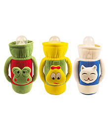 Ole Baby Feeding Bottle Cover With Handle Pack Of 3 Green Cream Yellow - 500 Ml