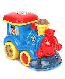 Toy Train With Light & Music - Blue Red & Yellow