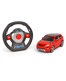 Remote Control Gravity Sensor Racing Car With Steering Wheel - Red