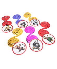 Kung Fu Panda Dangling Swirls Multicolor - Pack Of 6