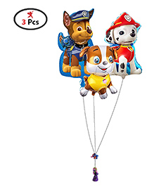 Party Propz Paw Patrol Foil Balloons Pack Of 3 - Multi Colour