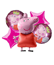 Party Propz Peppa Pig Foil Balloons Pack Of 5 - Blue
