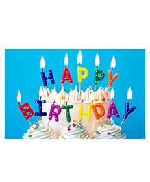 Party Propz Happy Birthday Candle Set Multicolour - 13 Pieces