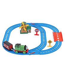 Thomas & Friends Motorized Railway Set With Free Activity Book - Blue