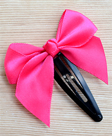 Pretty Ponytails Bow Design Hair Clip - Pink