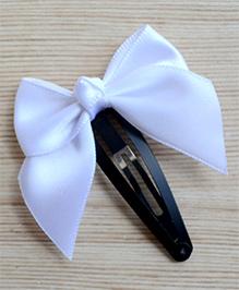 Pretty Ponytails Bow Design Hair Clip - White