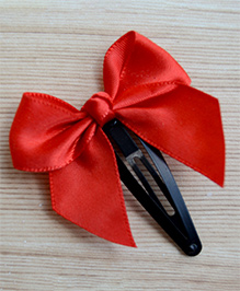 Pretty Ponytails Bow Design Hair Clip - Red