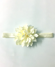 Knotty Ribbons Flower Applique Headband - Off White