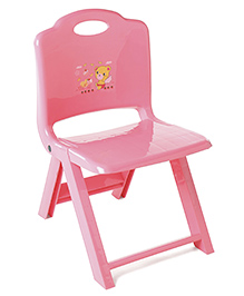 Foldable Baby Chair Teddy Print - Pink.