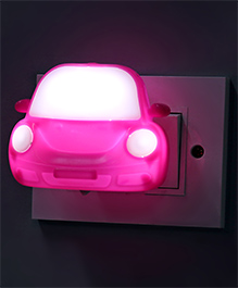 Car Shape LED Night Lamp - Light Pink