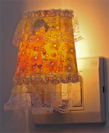 LED Night Lamp With Fabric - Yellow