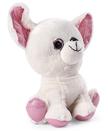 My Baby Excels Chihuahua Plush Soft Toy Pink & White - Height 22 Cm