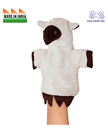 Eduedge Sheep Shape Hand Puppet Glove - White