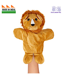 Eduedge Lion Shape Hand Puppet Glove Light Brown -  Height 25 Cm