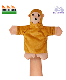 Eduedge Monkey Shape Hand Puppet Glove Beige -  Height 25 Cm
