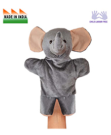 Eduedge Elephant Shape Hand Puppet Glove Dark Grey -  Height 25 Cm