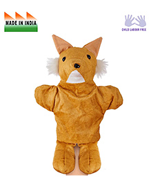 Eduedge Fox Shape Hand Puppet Glove Light Brown -  Height 25 Cm