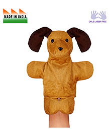 Eduedge Dog Shape Hand Puppet Glove Beige - Height 25 Cm