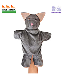 Eduedge Cat Hand Puppet Grey - Height 25 Cm