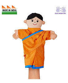 Eduedge Mother Hand Puppet Orange - Height 25 Cm