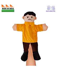 Eduedge Father Hand Puppet Yellow - Height 25 Cm