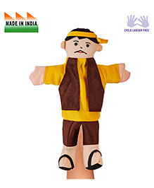 Eduedge Vendor Hand Puppet Yellow Brown - Height 25 Cm